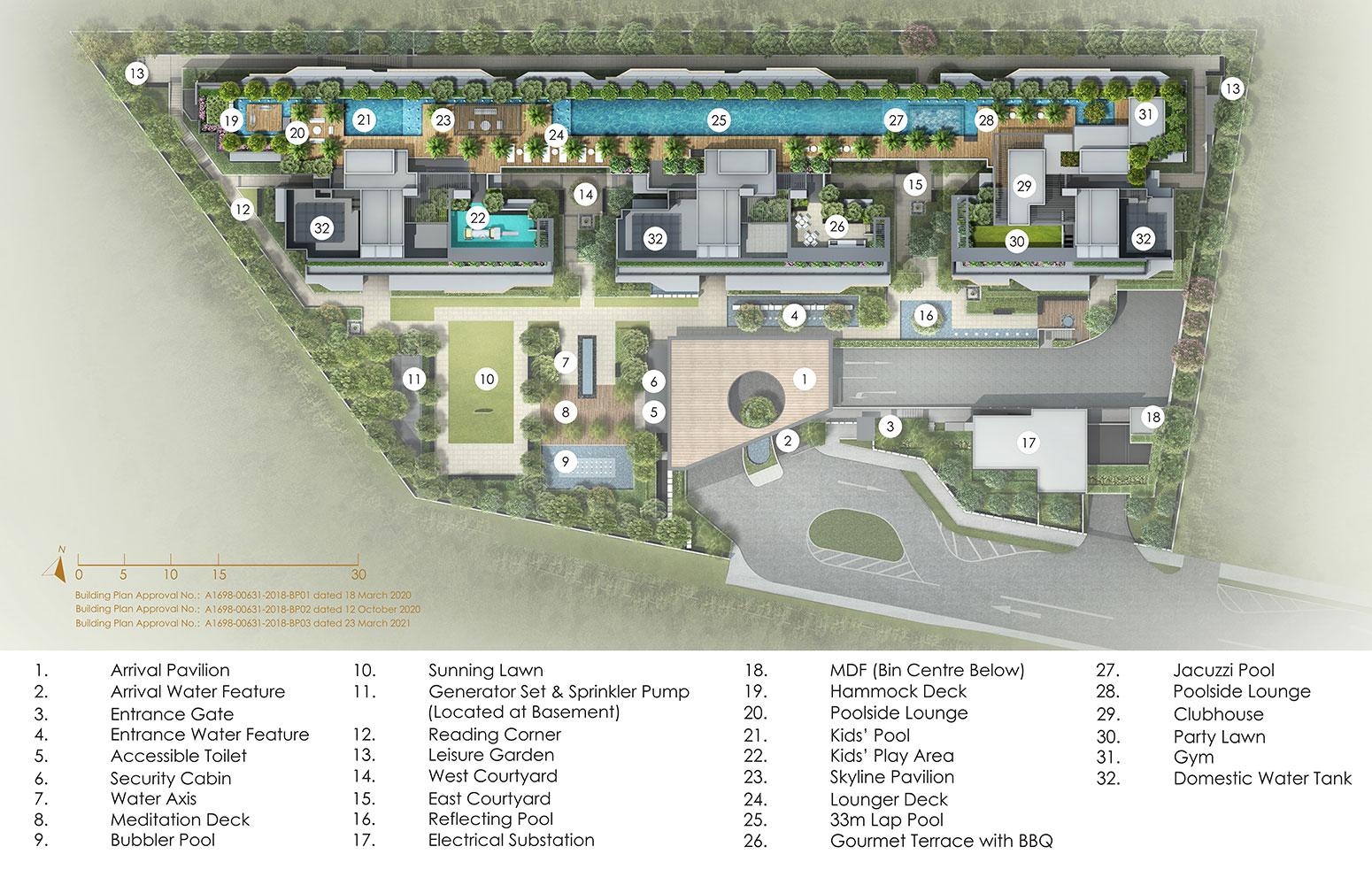 Peak Residence Condo Facilities - Site Plan