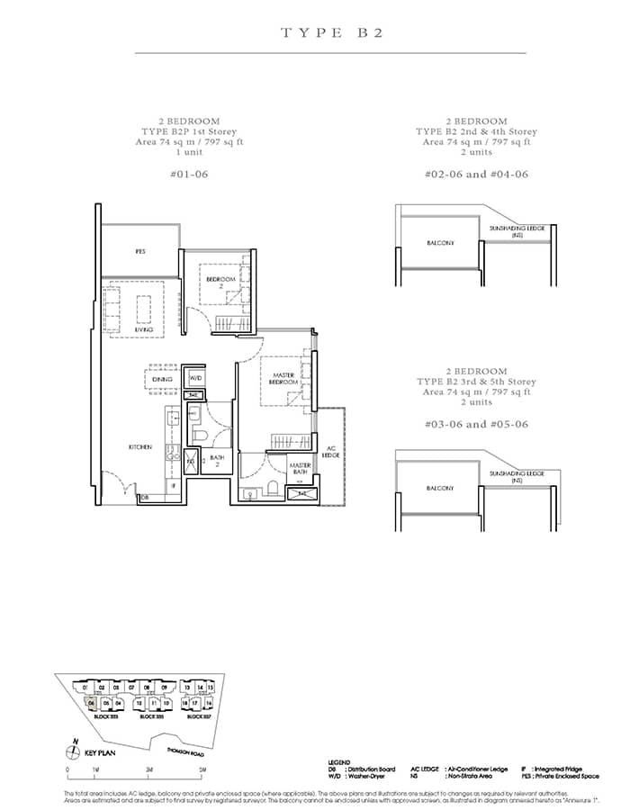 Peak Residence Condo Floor Plan - 2 Bedroom B2