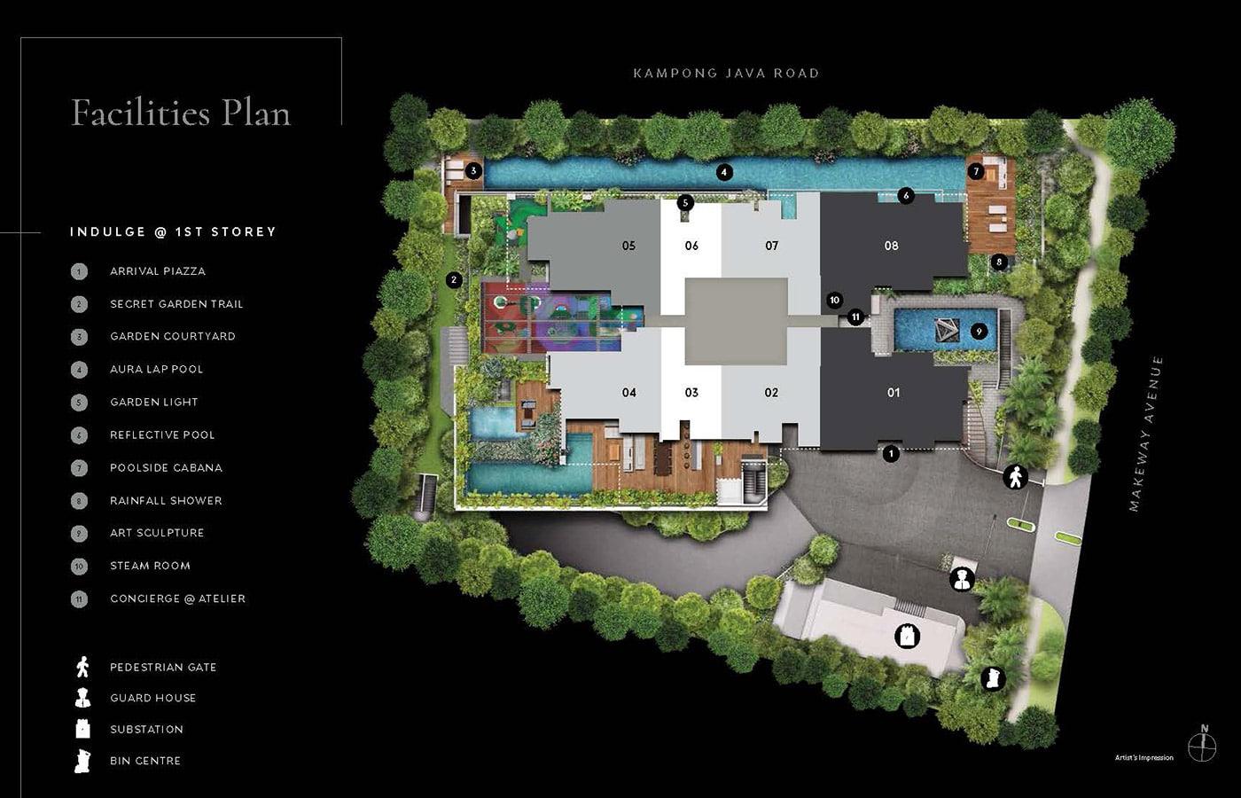 The Atelier Condo Facilities - Site Plan (1st Storey)
