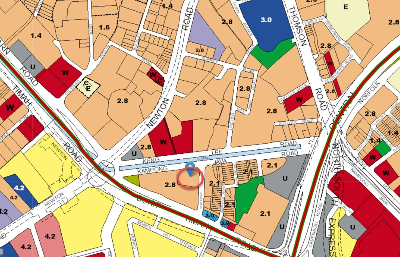 The Atelier Condo Location - URA Master Plan Map