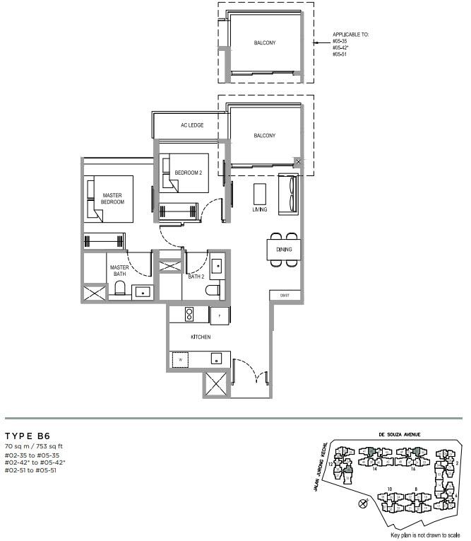 Verdale Condo Showflat - 2 Bedroom Deluxe B6
