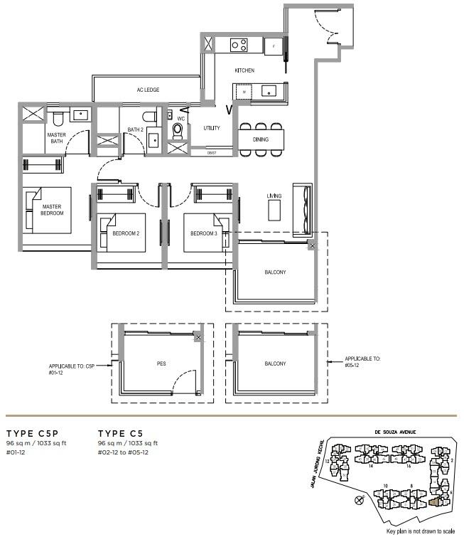 Verdale Condo Showflat - 3 Bedroom Deluxe C5