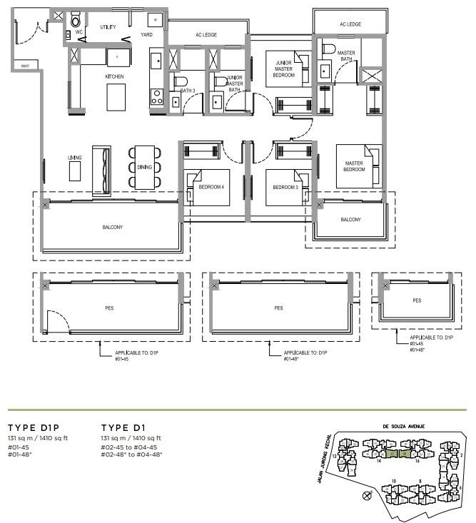 Verdale Condo Showflat - 4 Bedroom D1