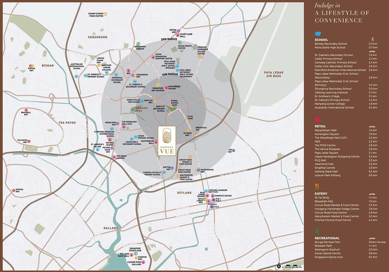 Bartley Vue Condo Location - Location Map