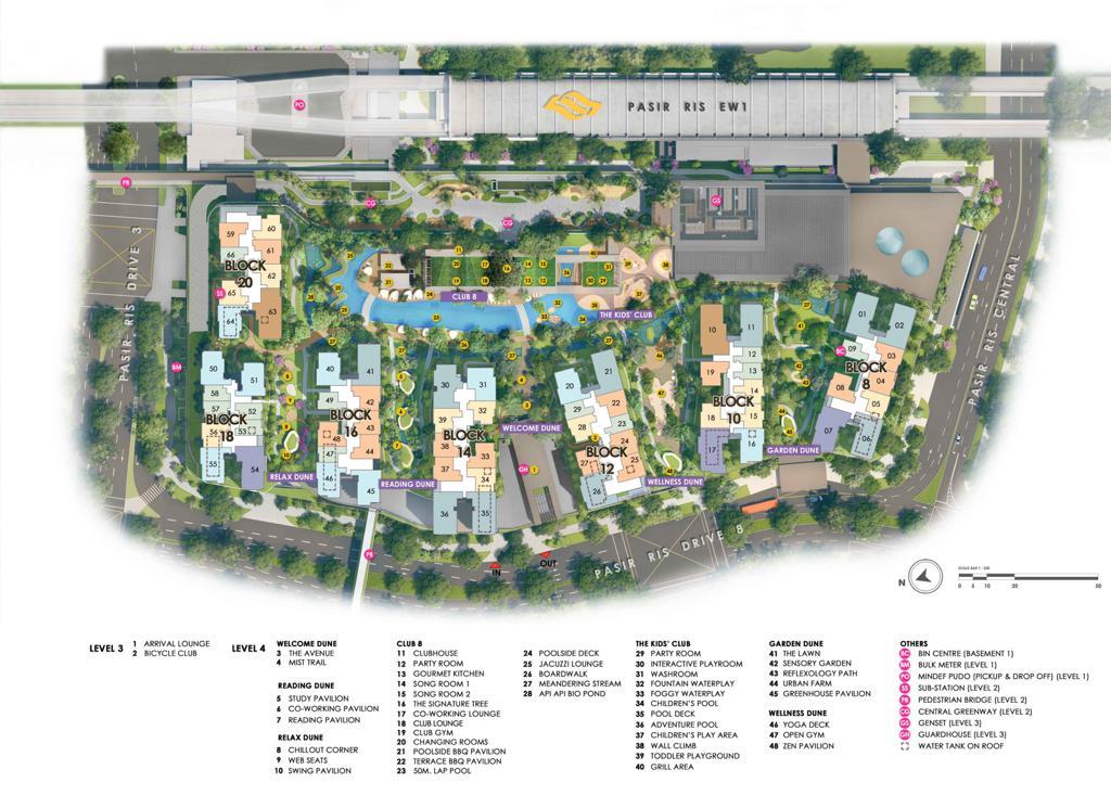 Pasir Ris 8 Condo Facilities - Site Plan