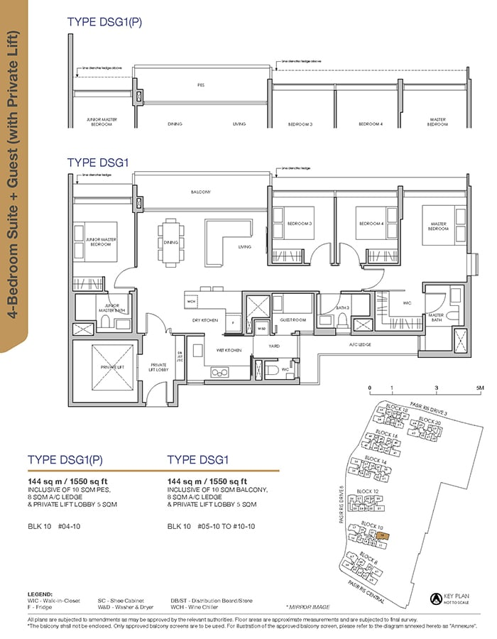 Pasir Ris 8 Condo Showflat - 4 Bedroom Suite + Guest DSG1 (with Private Lift)