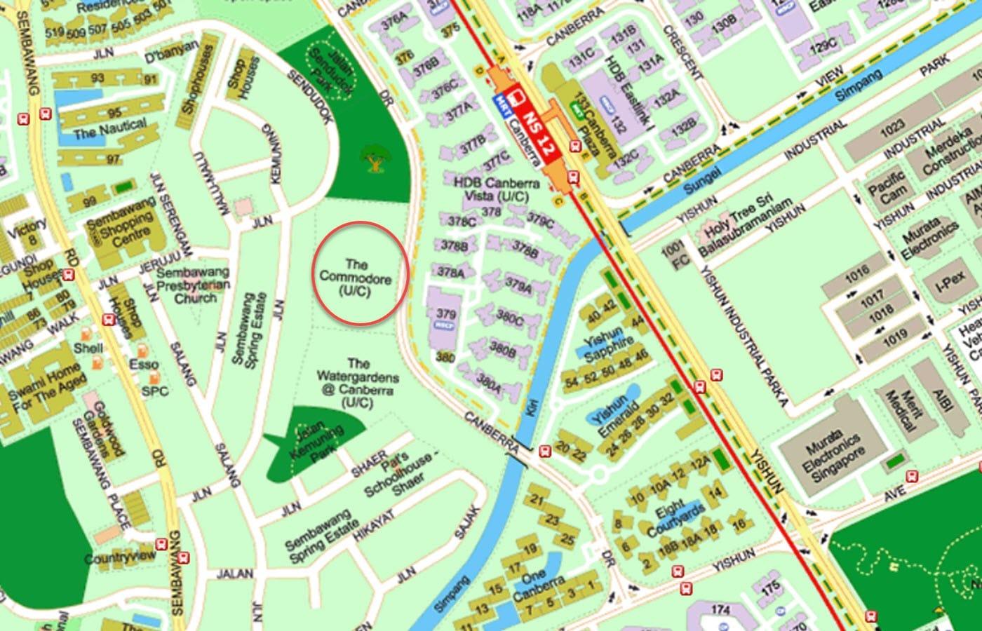 The Commodore Condo Location - Street Directory Map