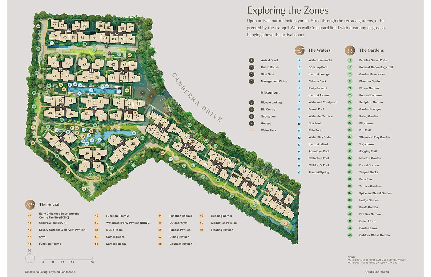 The Watergardens At Canberra Condo - Site Plan