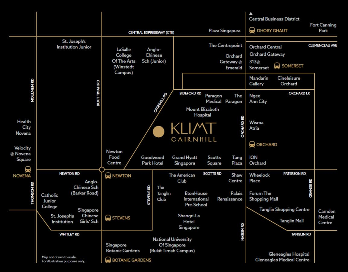 Klimt Cairnhill Condo Location - Location Map