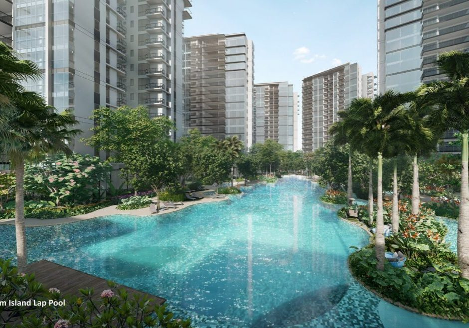 The Florence Residences Condo Island pool